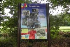 48. Great Oak sign Pill Copse Caravan Park